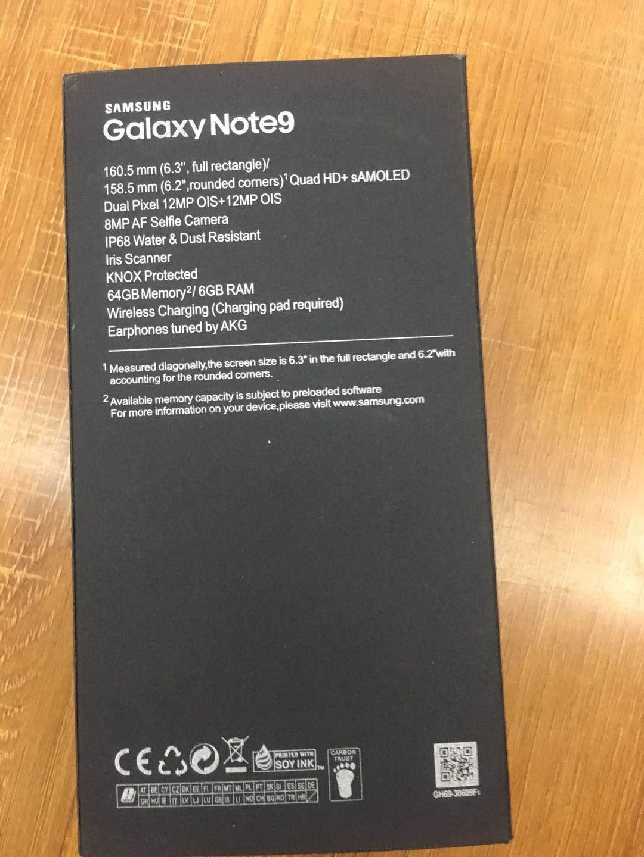 Galaxy NOTE 9, Finger iD