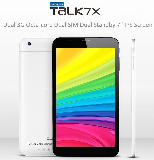 Cube Ttalk 7x Octa-core U51GT-C8 Android 4.4 3G Phablet MTK8392 2.0GHz with 7 inch WSVGA IPS Screen 16GB ROM Dual Cameras Bluetooth WiFi Function Supported